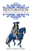 <i>The Ravishing Restoration: Aphra Behn, Violence, and Comedy</i> (review)