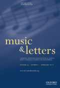 <i>Goethe and Zelter: Musical Dialogues</i> (review)