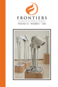 Frontiers: A Journal of Women Studies cover