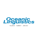 Oceanic Linguistics cover