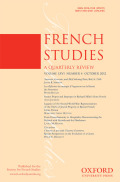 <i>France and the Spanish Civil War: Cultural Representations of the War Next Door, 1936-1945</i>, and: <i>France Divided: The French and the Civil War in Spain</i> (review)
