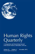 The Domestic Mechanisms of Compliance with International Human Rights Law: Case Studies from the Inter-American Human Rights System