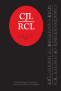 Transitive <i>be</i> perfect: An experimental study of Canadian English