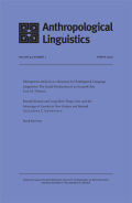 <i>Multi-Verb Constructions: A View from the Americas</i> (review)