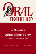 Oral/Aural Culture in Late Modern Society?: Traditional Singing as Professionalized Genre and Oral-Derived Expression