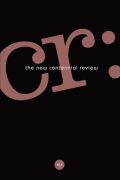 CR: The New Centennial Review cover