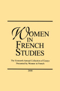 <i>Violence and the Female Imagination: Quebec's Women Writers Re-Frame Gender in North American Cultures</i> by Paula Ruth Gilbert (review)
