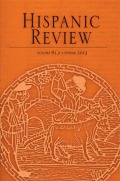 <i>The Poetics of Speech in the Medieval Spanish Epic</i> by Matthew Bailey (review)