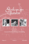 """What's this? Mutton?"": Food, Bodies, and Inn-Yard Performance Spaces in Early Shakespearean Drama"