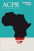<i>The War Machines: Young Men and Violence in Sierra Leone and Liberia</i> by Danny Hoffman (review)