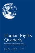 """Re-righting Business"": John Ruggie and the Struggle to Develop International Human Rights Standards for Transnational Firms"