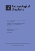 Anthropological Linguistics cover