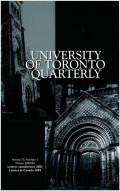 University of Toronto Quarterly cover