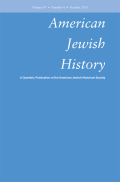 <i>Chosen Capital: The Jewish Encounter with American Capitalism</i> ed. by Rebecca Kobrin (review)