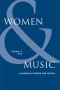 <i>Towards a Twenty-First-Century Feminist Politics of Music</i> by Sally Macarthur (review)