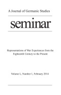 The Haptic Horrors of War: Towards a Phenomenology of Affect and Emotion in the War Genre in Germany, 1910s to 1950s