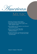 <i>Sounds American: National Identity and the Music Cultures of the Lower Mississippi River Valley, 1800–1860</i> by Ann Ostendorf (review)