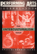 Interculturalism and Iconophilia in the New Theatre