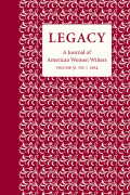 Legacy: A Journal of American Women Writers cover
