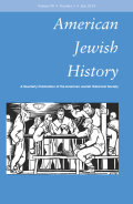 Neither 'Sissy' Boy Nor Patrician Man: New York Intellectuals and the Construction of American Jewish Masculinity