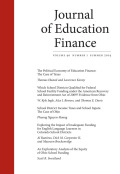 Which School Districts Qualified for Federal School Facility Funding under the American Recovery and Reinvestment Act of 2009?: Evidence from Ohio