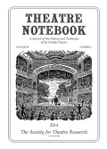 Drawing in a Theatre: Peacham, de Witt, and the Table-Book
