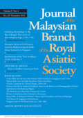 <i>Being Malay in Indonesia: Histories, Hopes and Citizenship in the Riau Archipelago</i> by Nicholas J. Long (review)