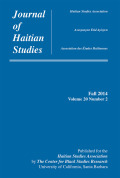 Histories of the Past, Histories for the Future: Representing the Past and Writing for the Future in Rodney Saint-Éloi's <i>Haïti, kenbe la!</i>