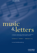 Correspondence: To the Editors of 'Music & Letters'