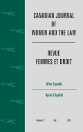 <i>Sexual Assault in Canada: Law, Legal Practice and Women's Activism</i> ed. by Elizabeth A. Sheehy (review)