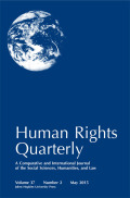<i>Human Rights as War by Other Means: Peace Politics in Northern Ireland</i> by Jennifer Curtis (review)