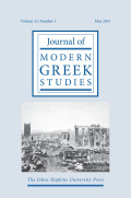 Introduction Modern Greek Studies and Public Scholarship: Intersections and Prospects
