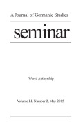 World Authorship as a Struggle for Consecration: Christa Wolf and <i>Der geteilte Himmel</i> in the English-Speaking World