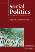 Family Supports and Insecure Work: The Politics of Household Service Employment in Conservative Welfare Regimes