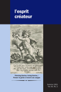 The Poets and the Philosophers: Genius and Analogy in Descartes and the <i>Encyclopédie</i> (Following Aristotle)
