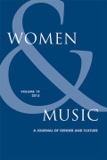 Women and Music: A Journal of Gender and Culture cover