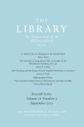 <i>The Arcadian Library: Bindings and Provenance</i> ed. by Giles Mandelbrote and Willem De Bruijn (review)