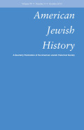 <i>Jews and the Law</i> ed. by Ari Mermelstein (review)