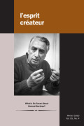Barthes and the Voice: The Acousmatic and Beyond