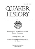 <i>Holy Nation: The Transatlantic Quaker Ministry in an Age of Revolution</i> by Sarah Crabtree, and: <i>London Quakers in the Trans-Atlantic World: The Creation of an Early Modern Community</i> by Jordan Landes (review)