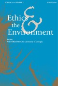 <i>Environmental Skill: Motivation, Knowledge, and the Possibility of a Non-Romantic Environmental Ethics</i> by Mark Coeckelbergh (review)