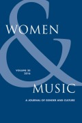 <italic>A Feminist Ethnomusicology: Writings on Music and Gender</italic> by Ellen Koskoff (review)