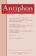 <italic>Care for the Church and Its Liturgy: A Study of Summorum Pontificum and the Extraordinary Form of the Roman Rite</italic> by William H. Johnston (review)