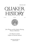 <i>The Early Quakers and the 'Kingdom of God: Peace, Testimony and Revolution</i> by Gerard Guiton, and: <i>Early Quakers and their Theological Thought 1647–1723</i> ed. by Stephen W. Angell and Pink Dandelion (review)