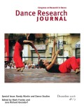 <i>Poetics of Dance: Body, Image, and Space in the Historical Avant-Gardes</i> by Gabriele Brandstetter (review)