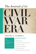 <i>A History of American Civil War Literature</i> ed. by Coleman Hutchison (review)