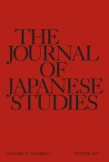 "Transnational History and Japan's ""Comparative Advantage"""