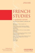 <i>The Cambridge Companion to French Literature</i> ed. by John D. Lyons (review)
