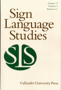 <i>International Sign: Linguistic, Usage, and Status Issues</i> ed. by Rachel Rosenstock and Jemina Napier (review)