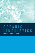 <i>New advances in Formosan linguistics</i> eds. by Elizabeth Zeitoun, Stacy F. Teng, and Joy J. Wu (review)